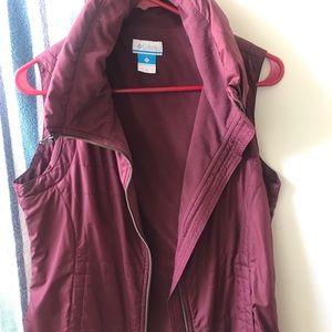 Women's Maroon Columbia Vest